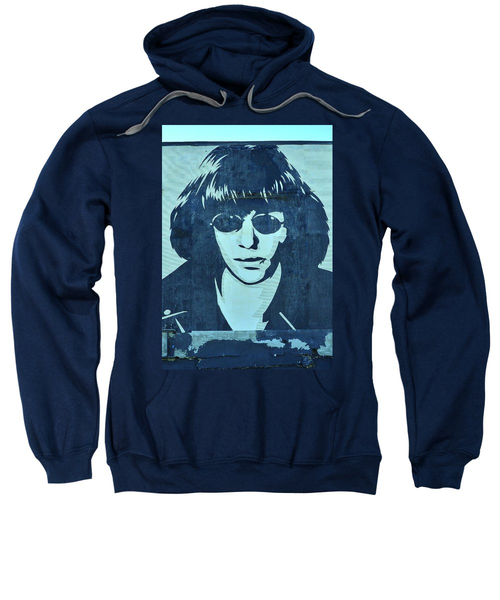 Shepard Fairey Sweatshirt featuring the photograph Joey Ramone by Allen Beatty