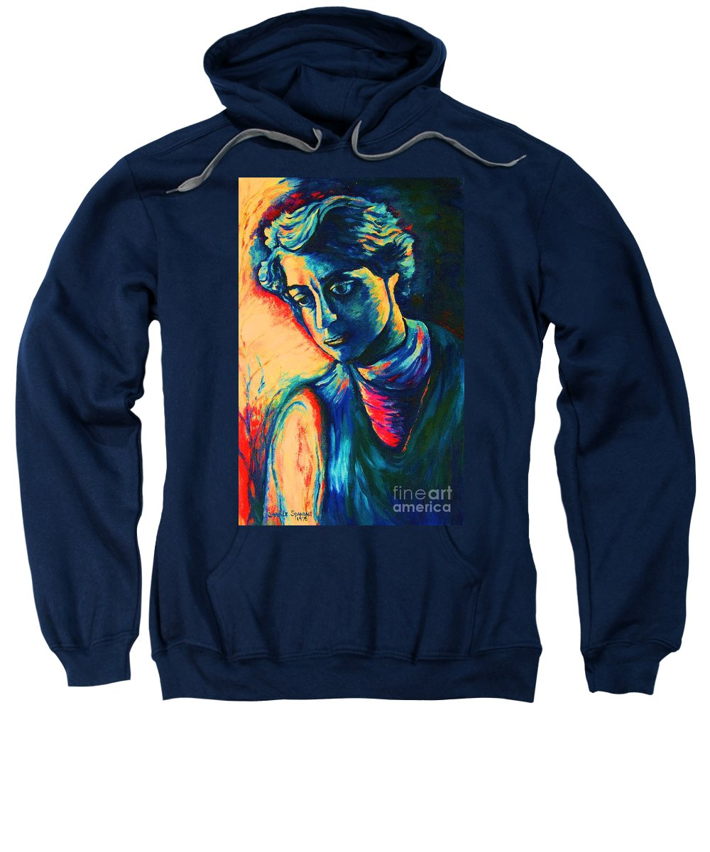 Joseph From The Bible Sweatshirt featuring the painting Joseph The Dreamer by Carole Spandau
