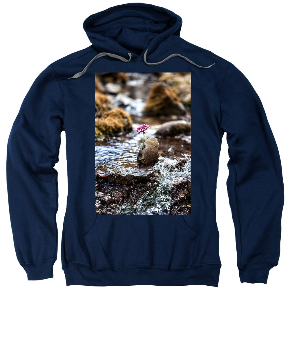 Flower Sweatshirt featuring the photograph Just Let Your Love Flow by Aaron Aldrich