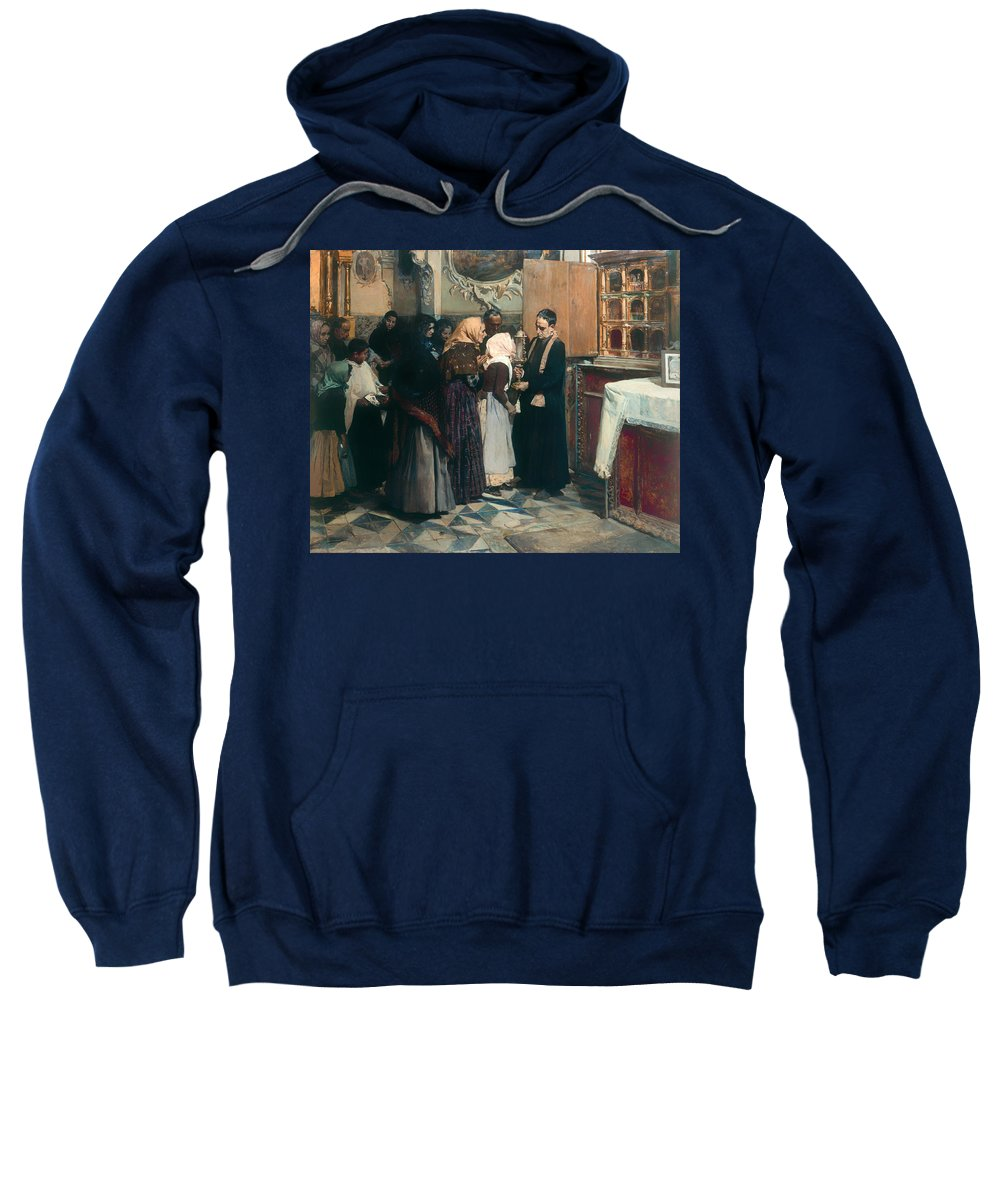 Painting Sweatshirt featuring the painting Kissing The Relic by Mountain Dreams