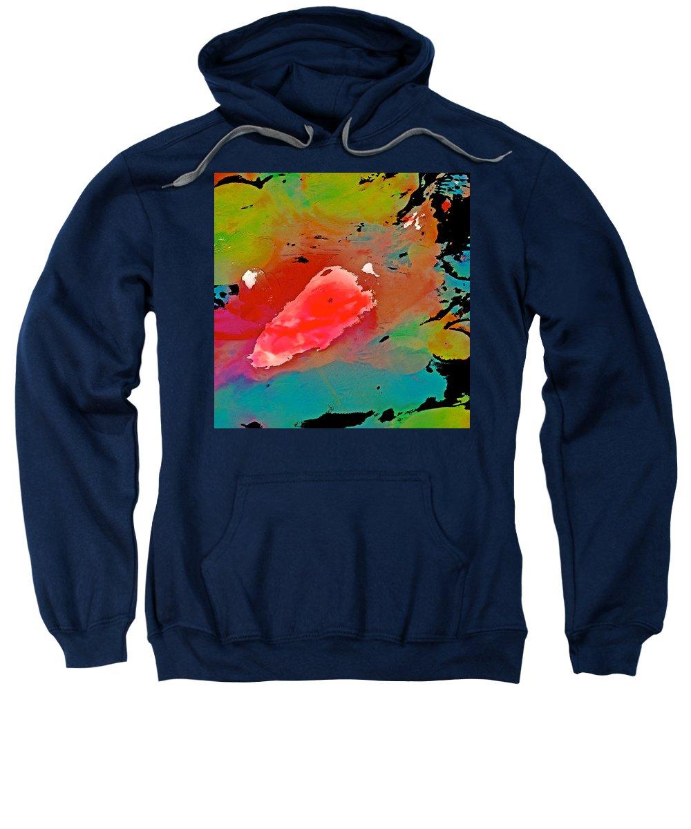 Koi Sweatshirt featuring the photograph Koi 17 by Pamela Cooper