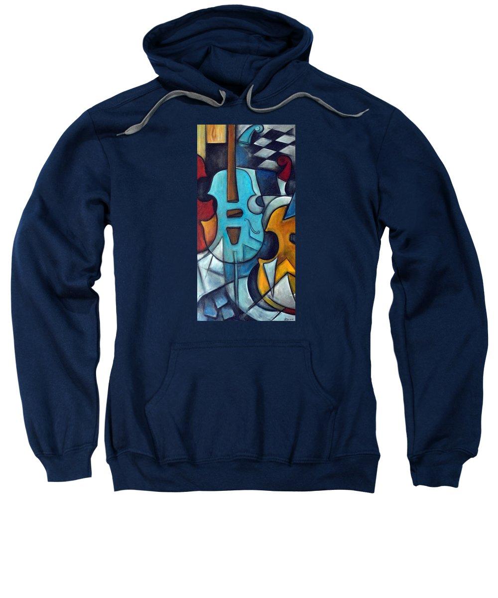 Music Sweatshirt featuring the painting La Musique 2 by Valerie Vescovi
