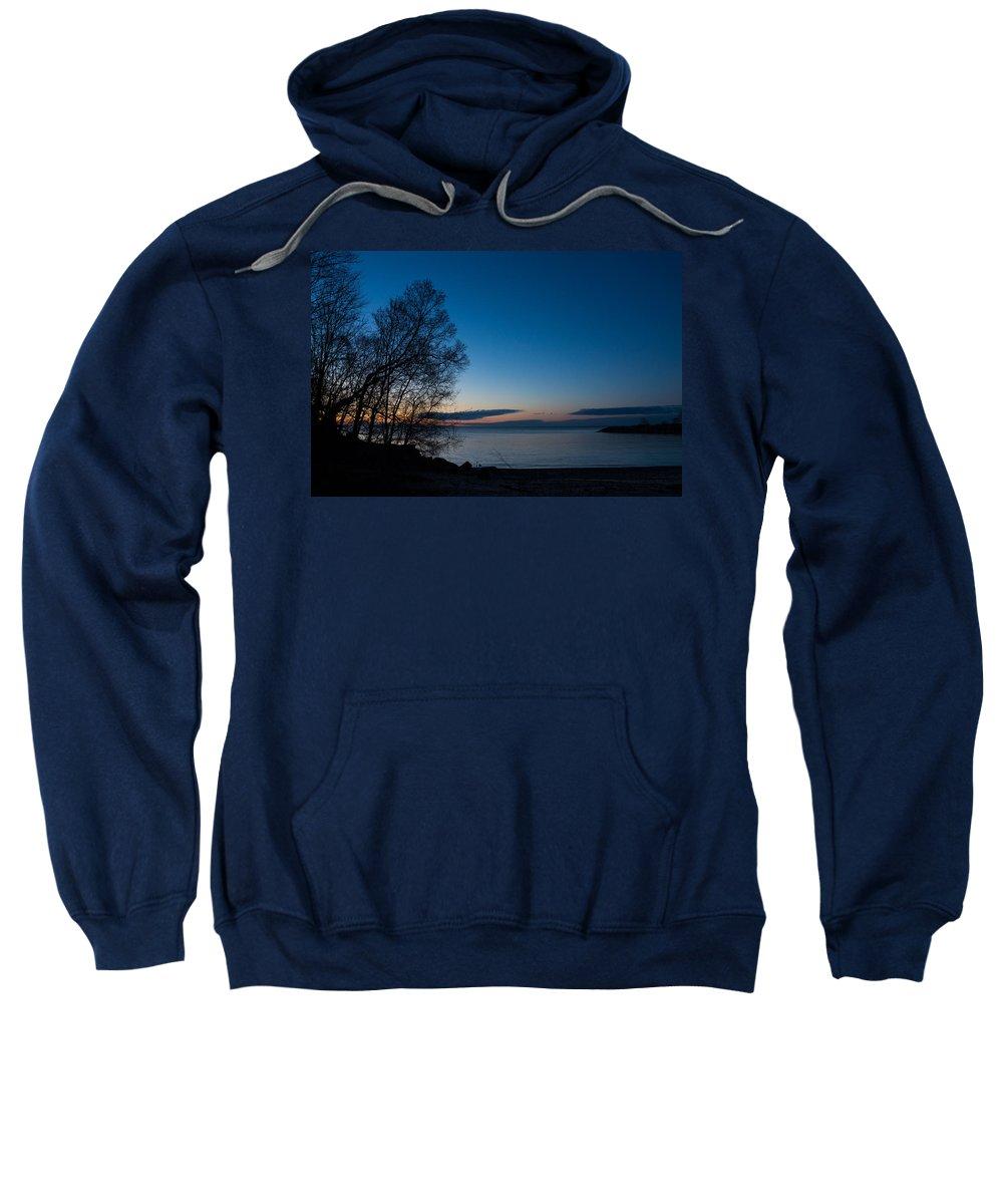 Lake Sweatshirt featuring the photograph Lake Ontario Blue Hour by Georgia Mizuleva
