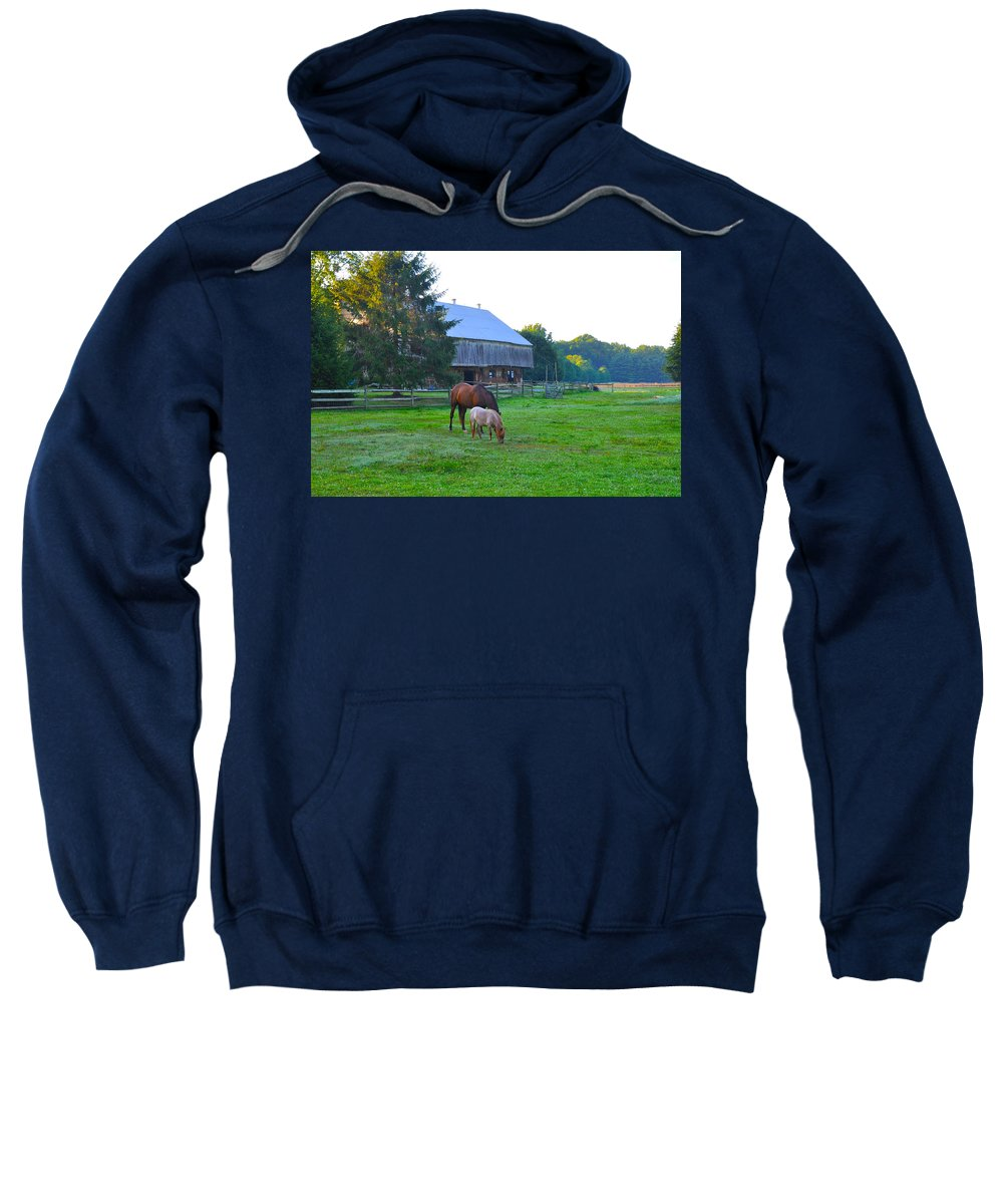 Lancaster Sweatshirt featuring the photograph Lancaster County Farm by Bill Cannon