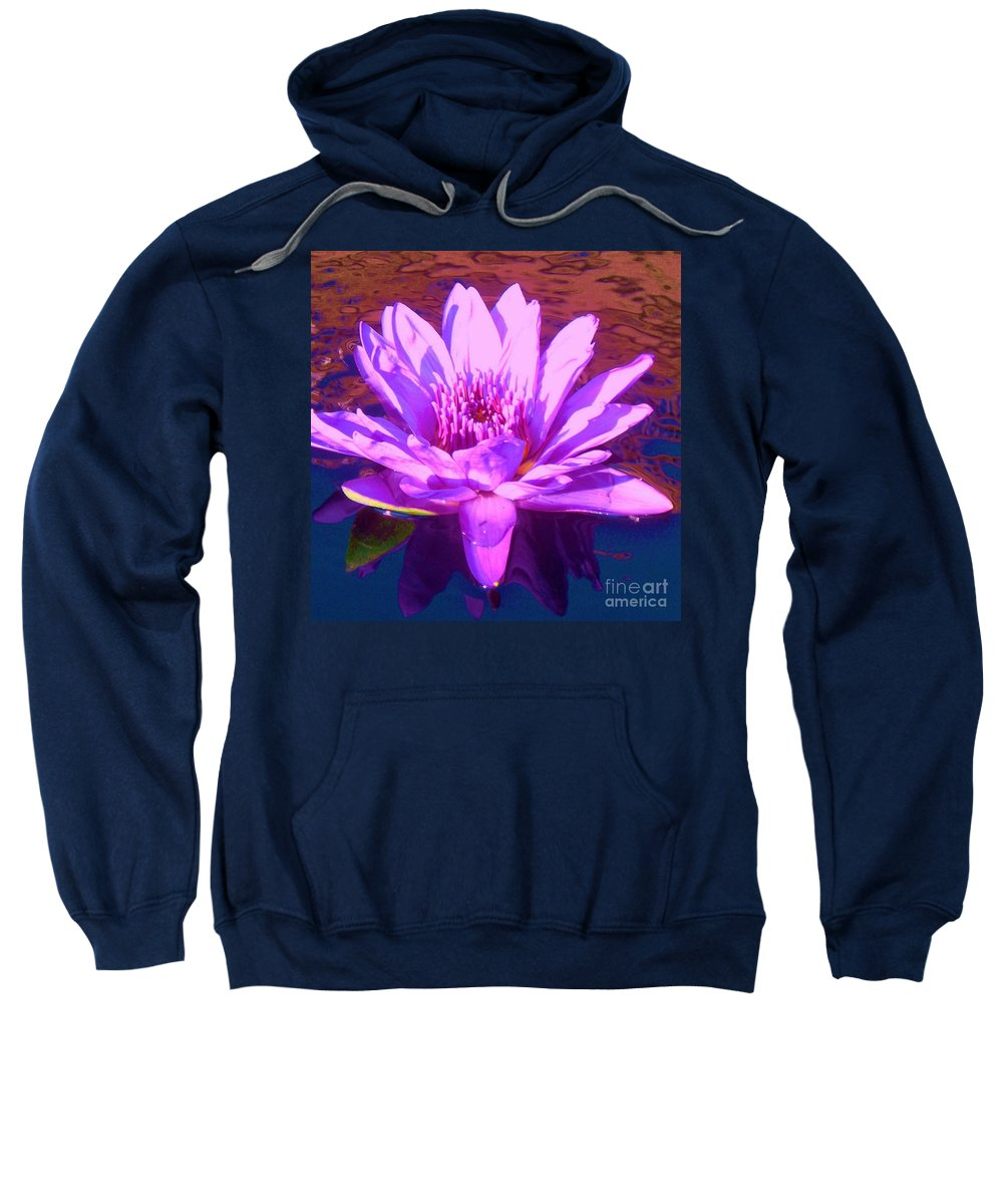 Lavender Sweatshirt featuring the photograph Lavender Lily by Eric Schiabor