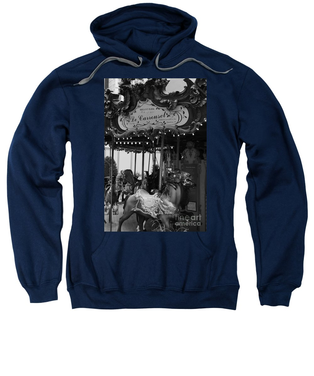 New York City Sweatshirt featuring the photograph Le Carrousel by David Rucker