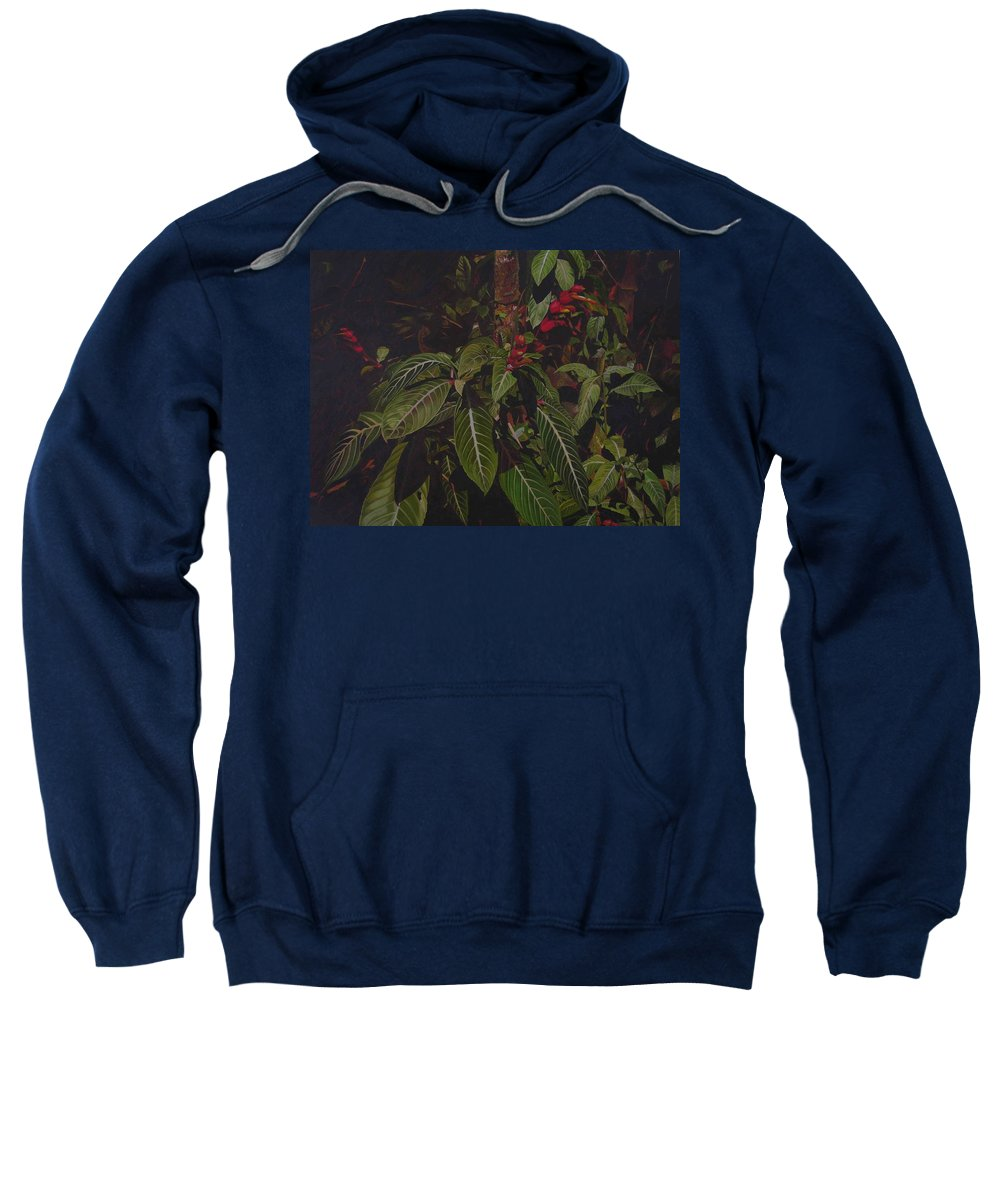 Leaves Sweatshirt featuring the painting Leaving Monroe by Thu Nguyen