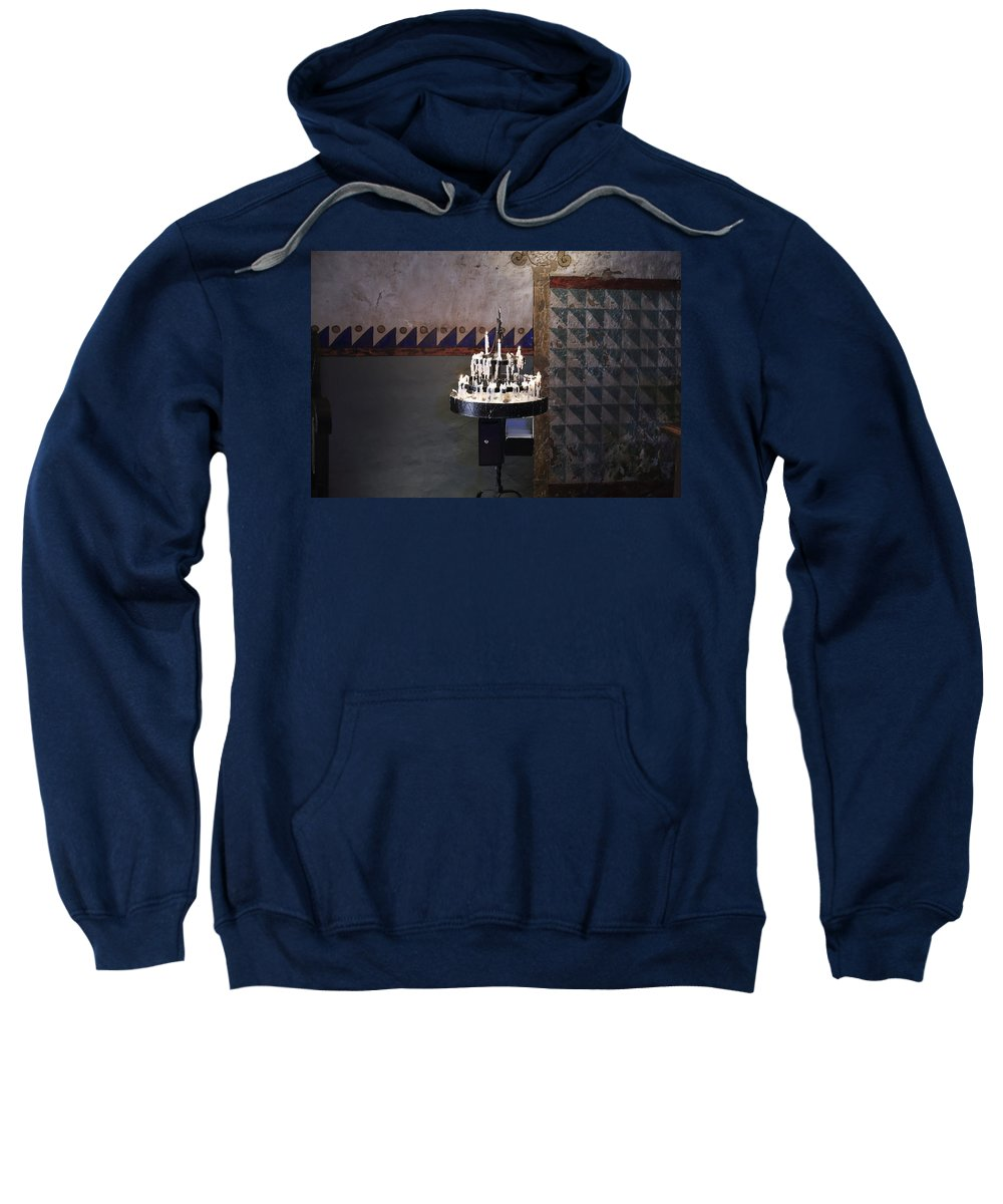 Light One Candle Sweatshirt featuring the photograph Light One Candle by Scott Hill