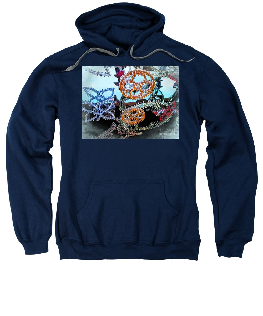 Seasons Greetings Sweatshirt featuring the photograph Lighted Circles by Joan Minchak
