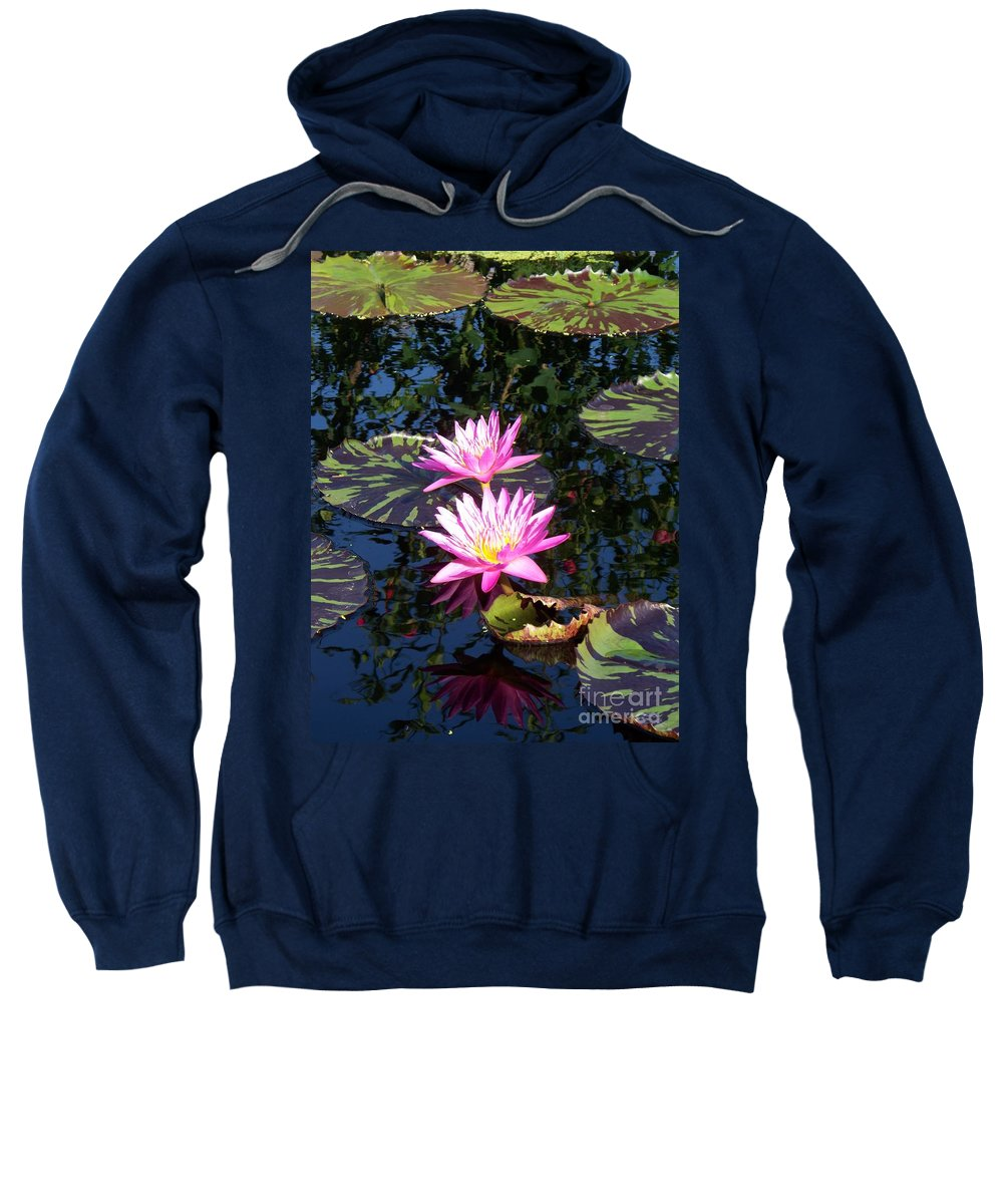 Lily Sweatshirt featuring the painting Lily Monet by Eric Schiabor