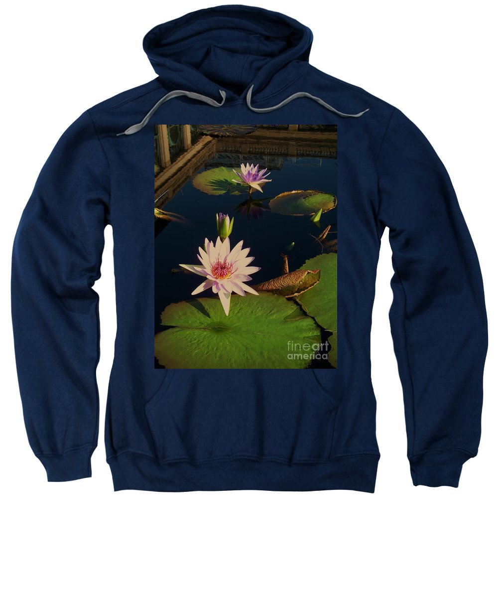 Photograph Sweatshirt featuring the photograph Lily White Monet by Eric Schiabor
