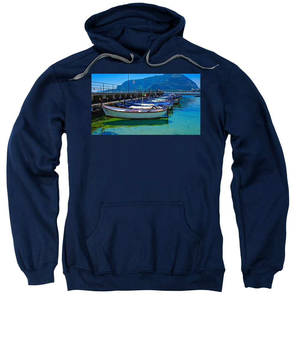 Travel Sweatshirt featuring the photograph Lined Up Fleet In Sicily by Tim G Ross