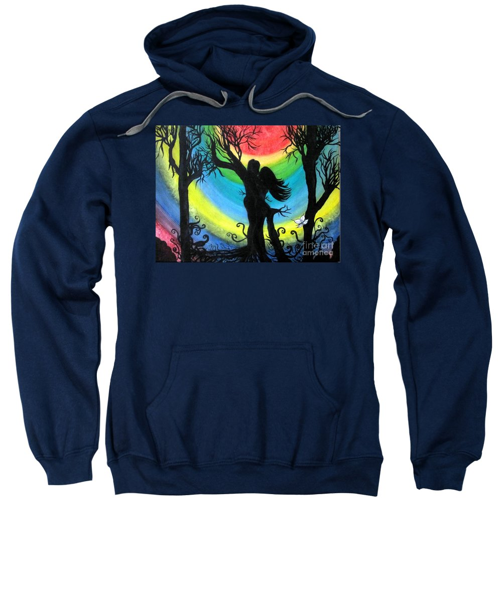 Colors Sweatshirt featuring the painting Love Energy by Veronica V Jackson