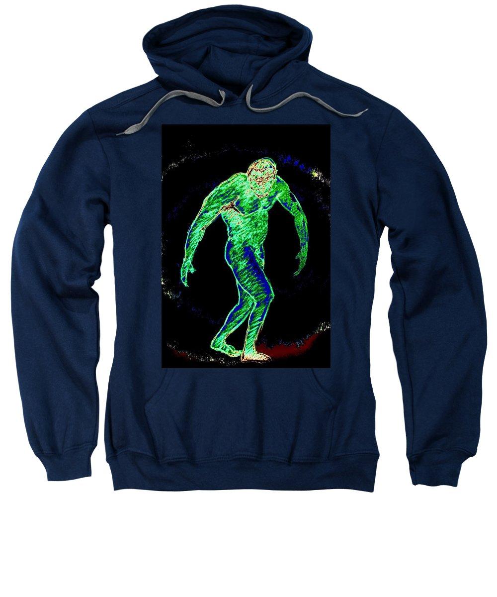 Genio Sweatshirt featuring the mixed media Man Power by Genio GgXpress