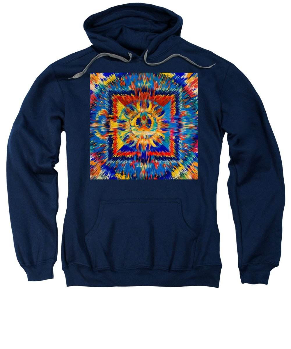 Mandala Amitayus Buddha Sweatshirt featuring the painting Mandala Amitayus Buddha by Jeelan Clark