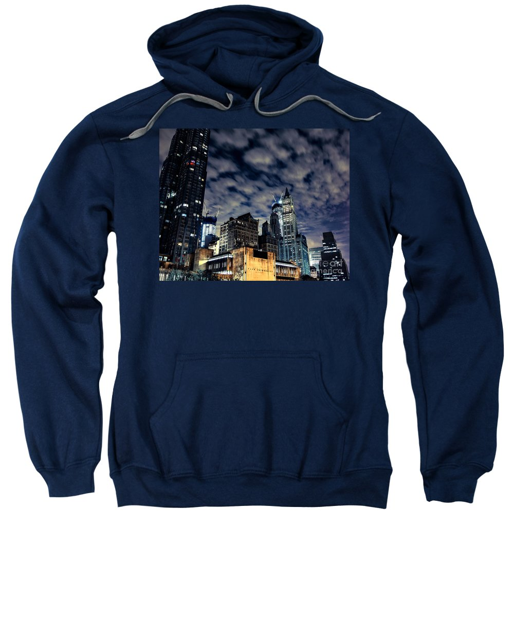 Streets Of New York Sweatshirt featuring the photograph Manhattan Bound Version A by Digital Kulprits
