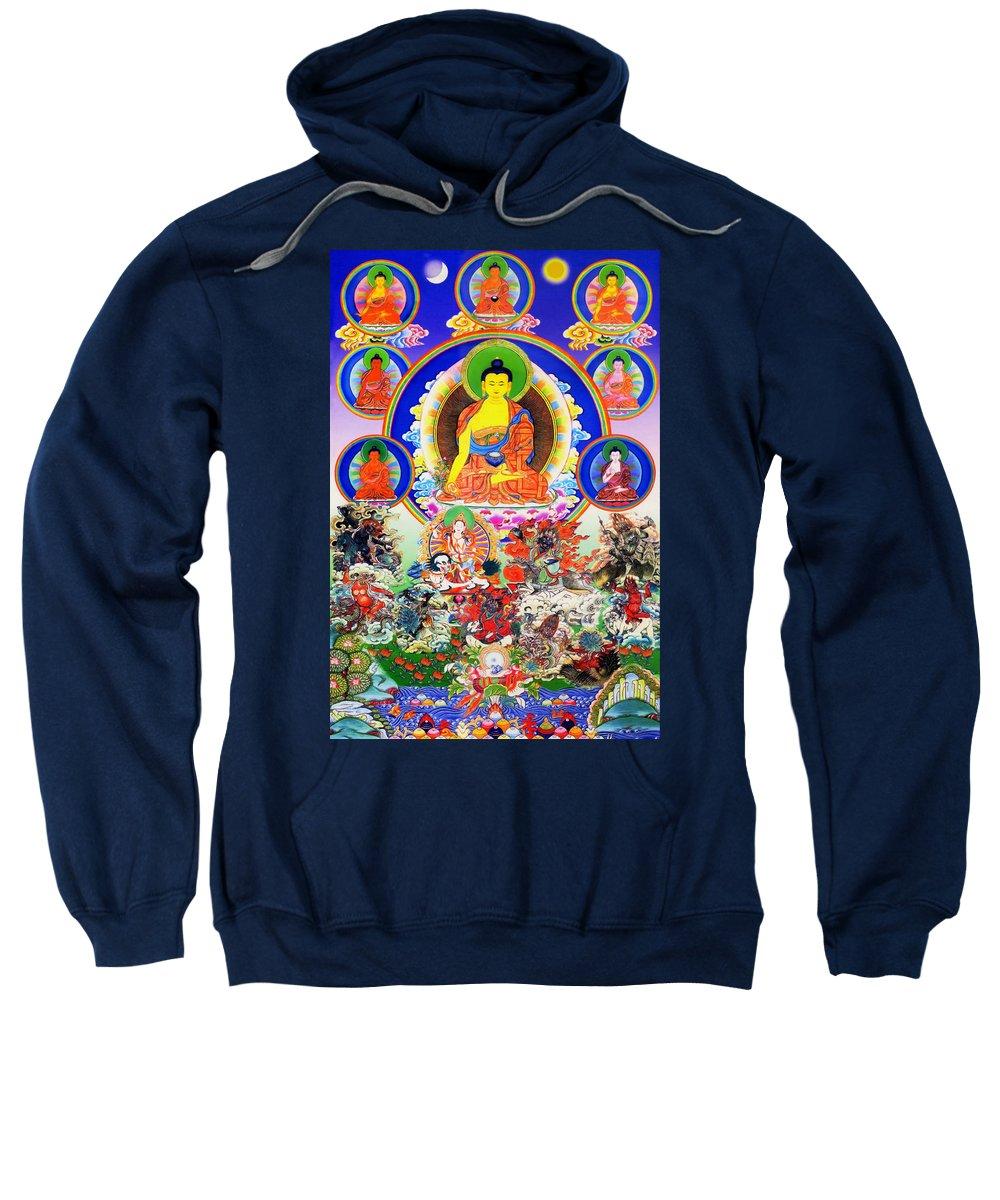 Medicine Buddha Sweatshirt featuring the photograph Medicine Buddha 12 by Jeelan Clark