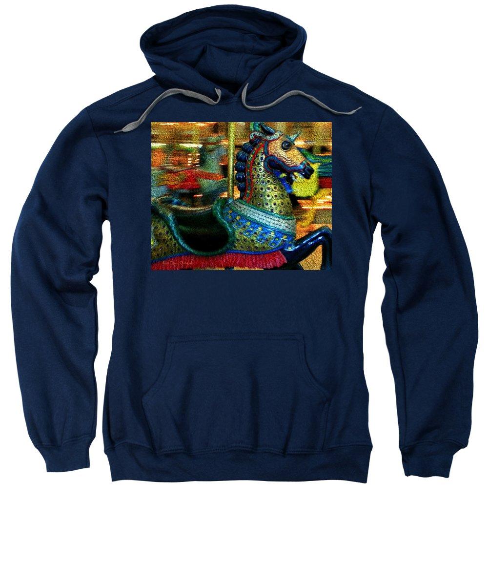 Sweatshirt featuring the photograph Merry Go Round II by Scott Fracasso