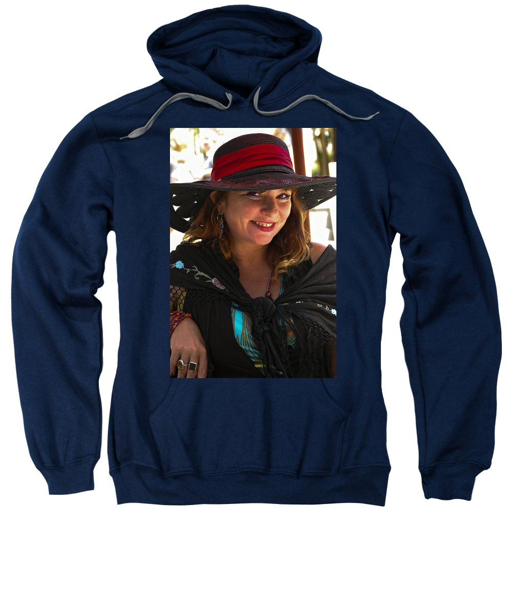 French Quarter Sweatshirt featuring the photograph Miss Dawn by Steve Harrington