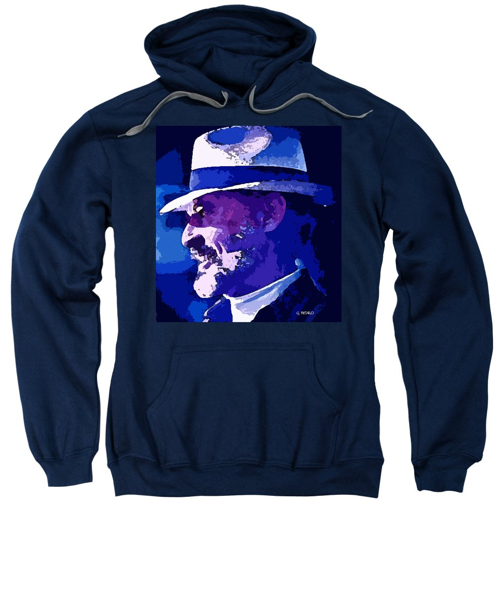 Mojo Sweatshirt featuring the painting Mojo by George Pedro