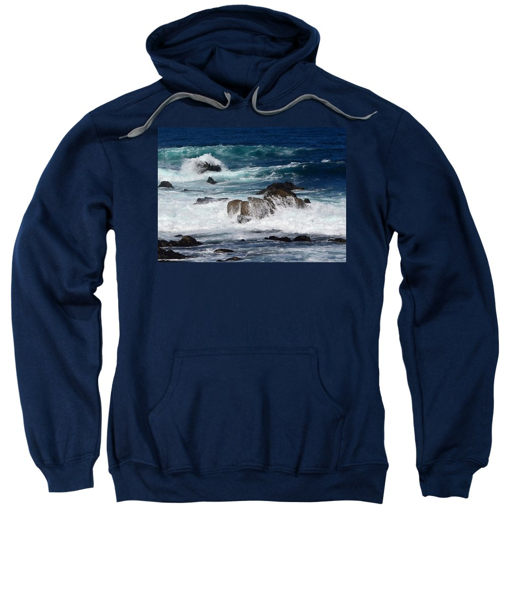 Waves Sweatshirt featuring the photograph Monterey-6 by Dean Ferreira