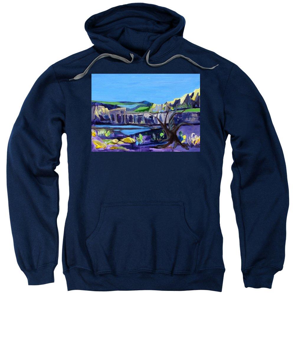 Arizona Sweatshirt featuring the painting Montezuma's Well by Betty Pieper