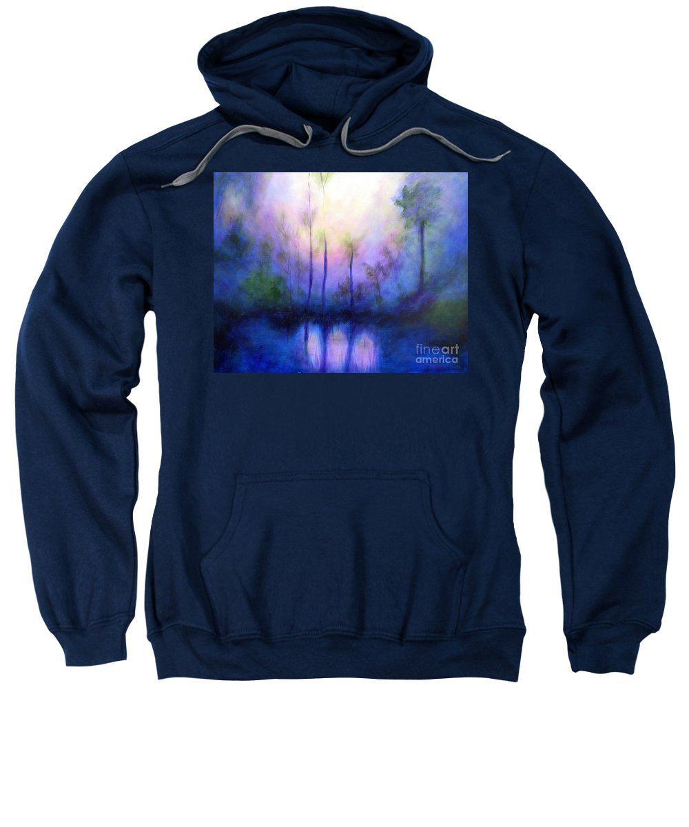 Impressionist Sweatshirt featuring the painting Morning Symphony by Alison Caltrider