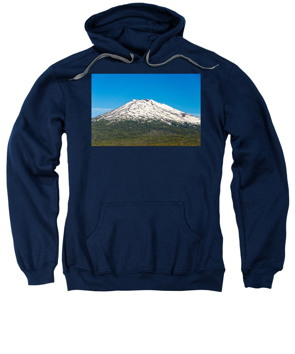 Mountain Sweatshirt featuring the photograph Mount Bachelor Closeup by Jess Kraft
