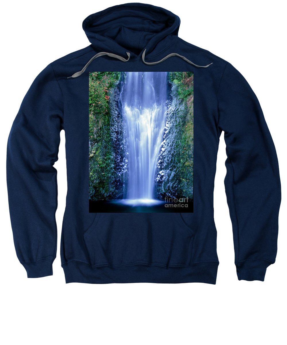 North America Sweatshirt featuring the photograph Multnomah Falls Columbia River Gorge Oregon by Dave Welling