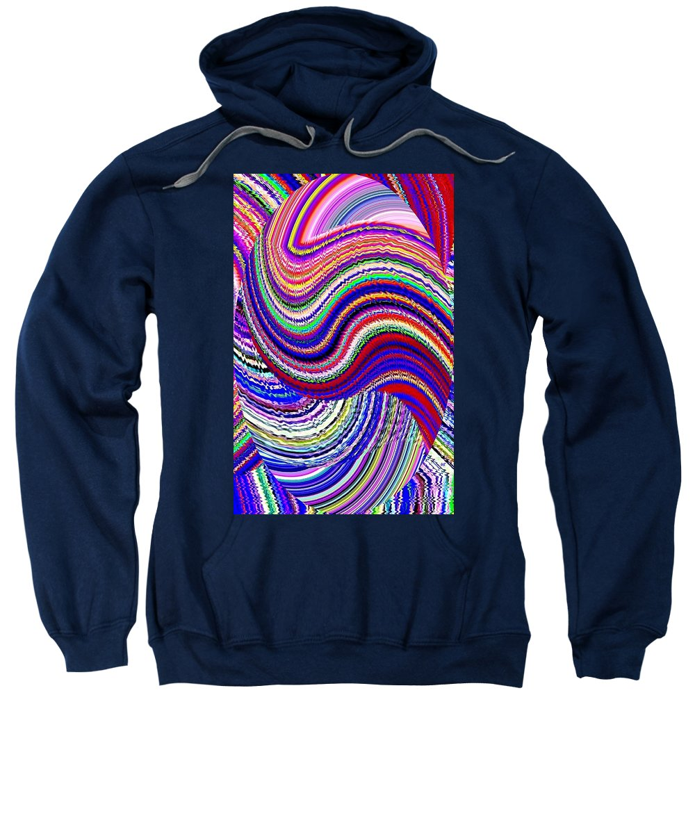 Abstract Sweatshirt featuring the digital art Music To The Eyes by Will Borden