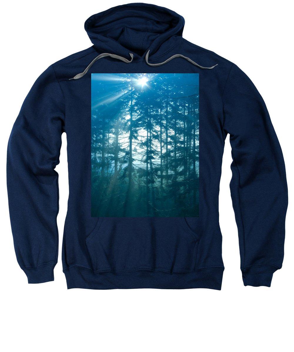 Nature Sweatshirt featuring the photograph Mystic Light by Daniel Csoka