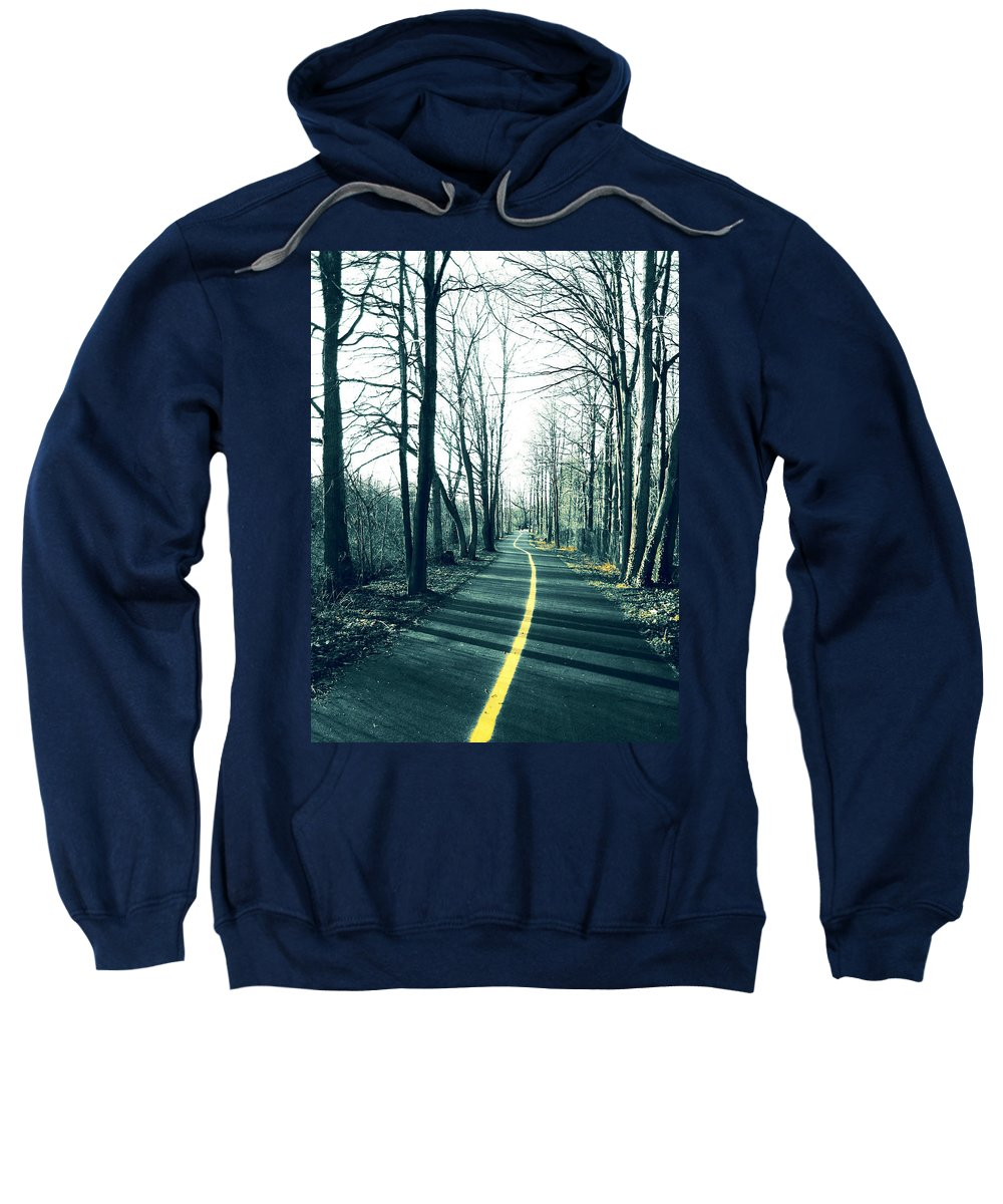 Path Sweatshirt featuring the photograph Narrow Path by Mary Cloninger