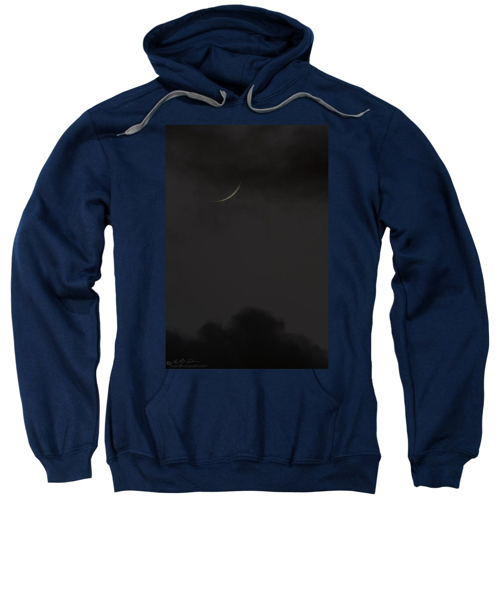 Moon Sweatshirt featuring the photograph New Moon by Beverly Cash