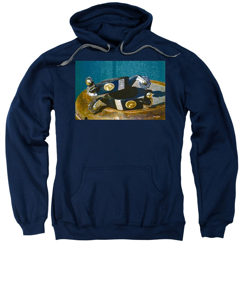 Horse Paintings Sweatshirt featuring the photograph New Pair by Mayhem Mediums