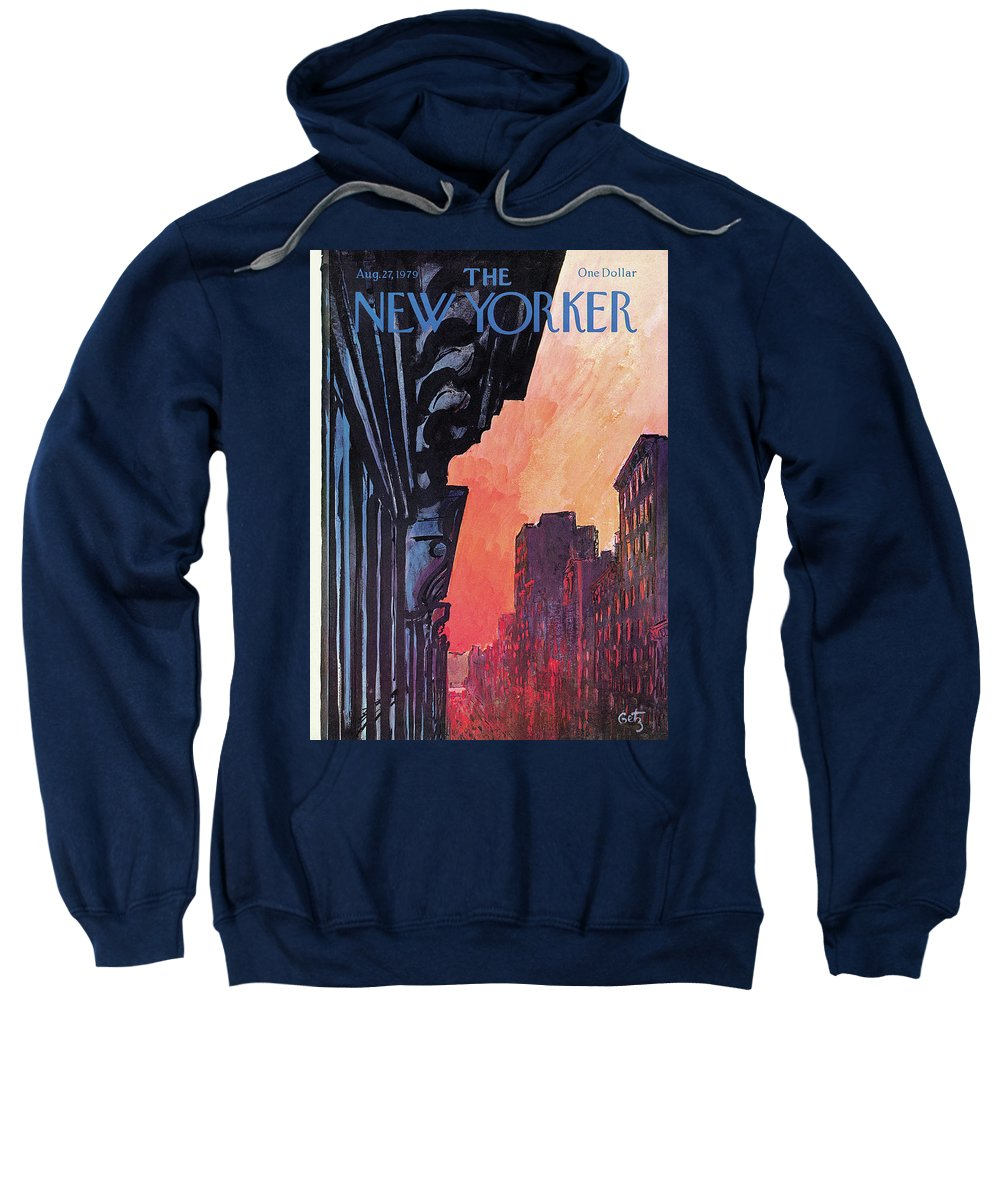 Urban Sweatshirt featuring the painting New Yorker August 27th, 1979 by Arthur Getz