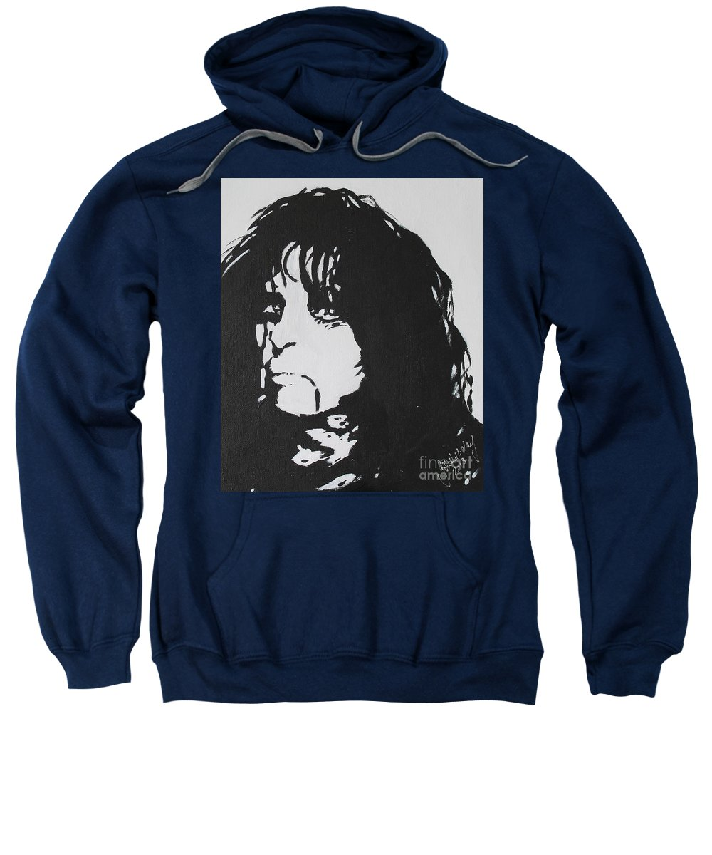 Alice Cooper Sweatshirt featuring the painting No More Mr Nice Guy by John Halliday