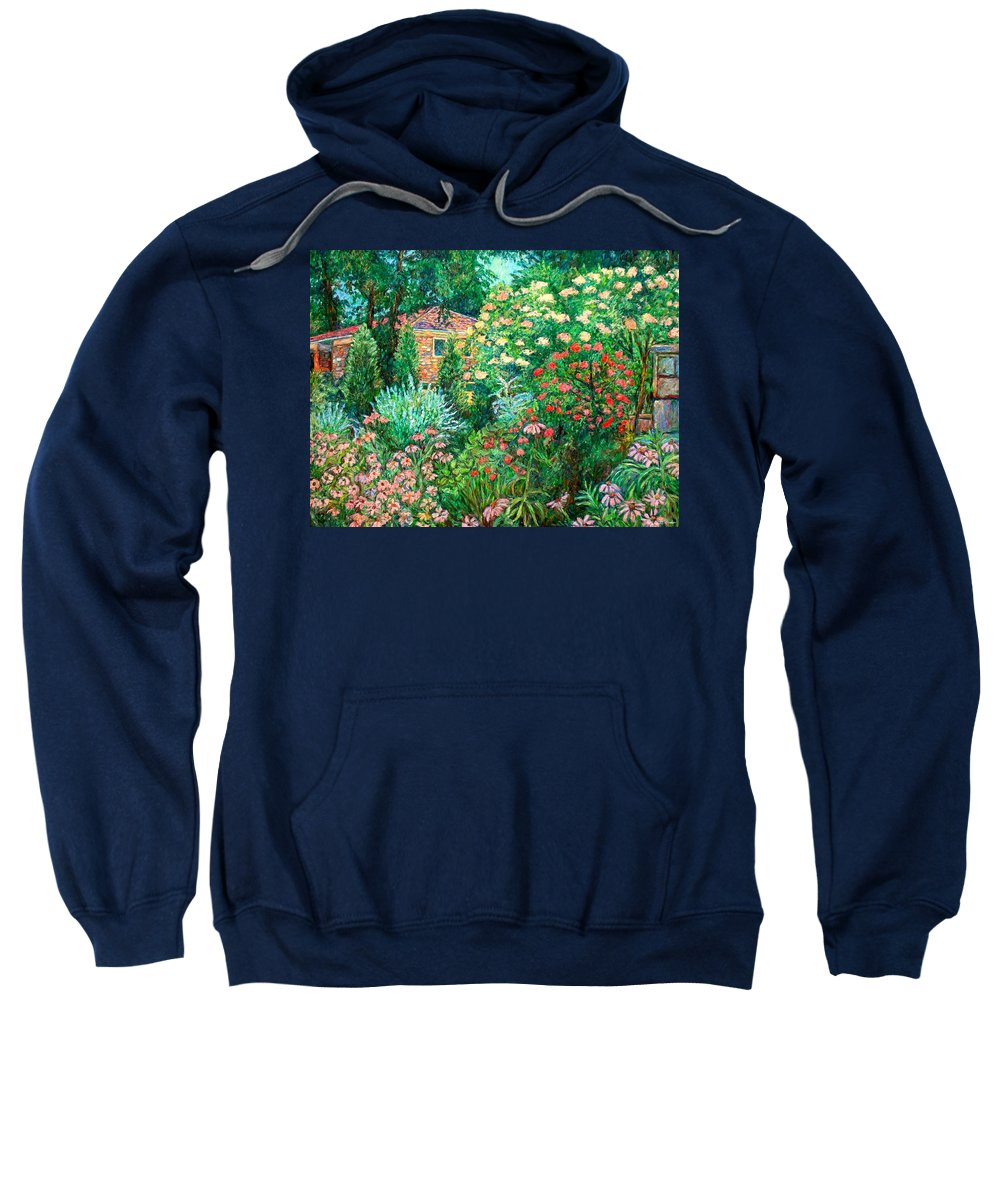 Garden Sweatshirt featuring the painting North Albemarle In Mclean Va by Kendall Kessler