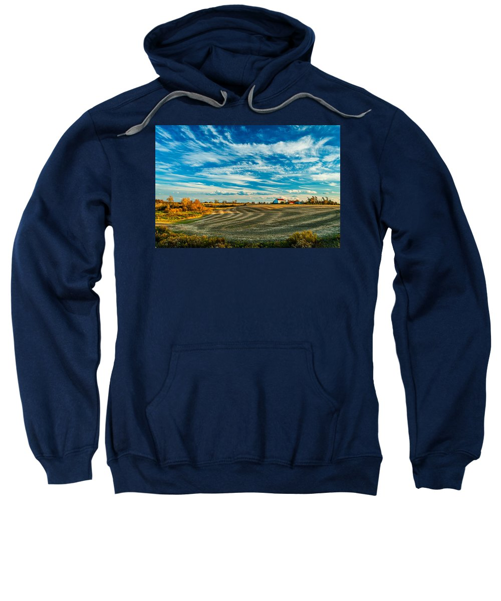 Landscape Sweatshirt featuring the photograph October Patterns by Steve Harrington
