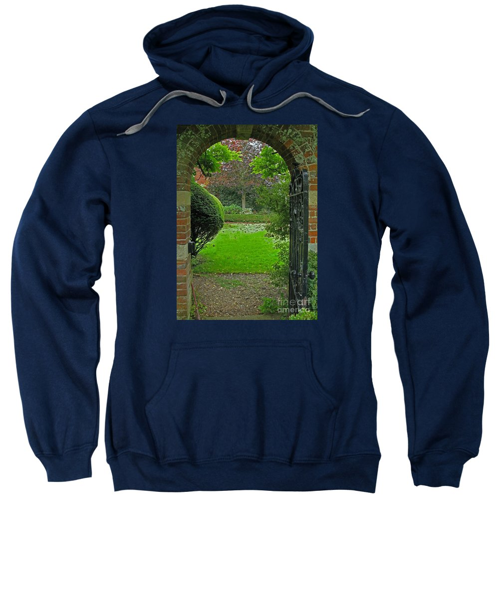 England Sweatshirt featuring the photograph Old English Garden by Ann Horn