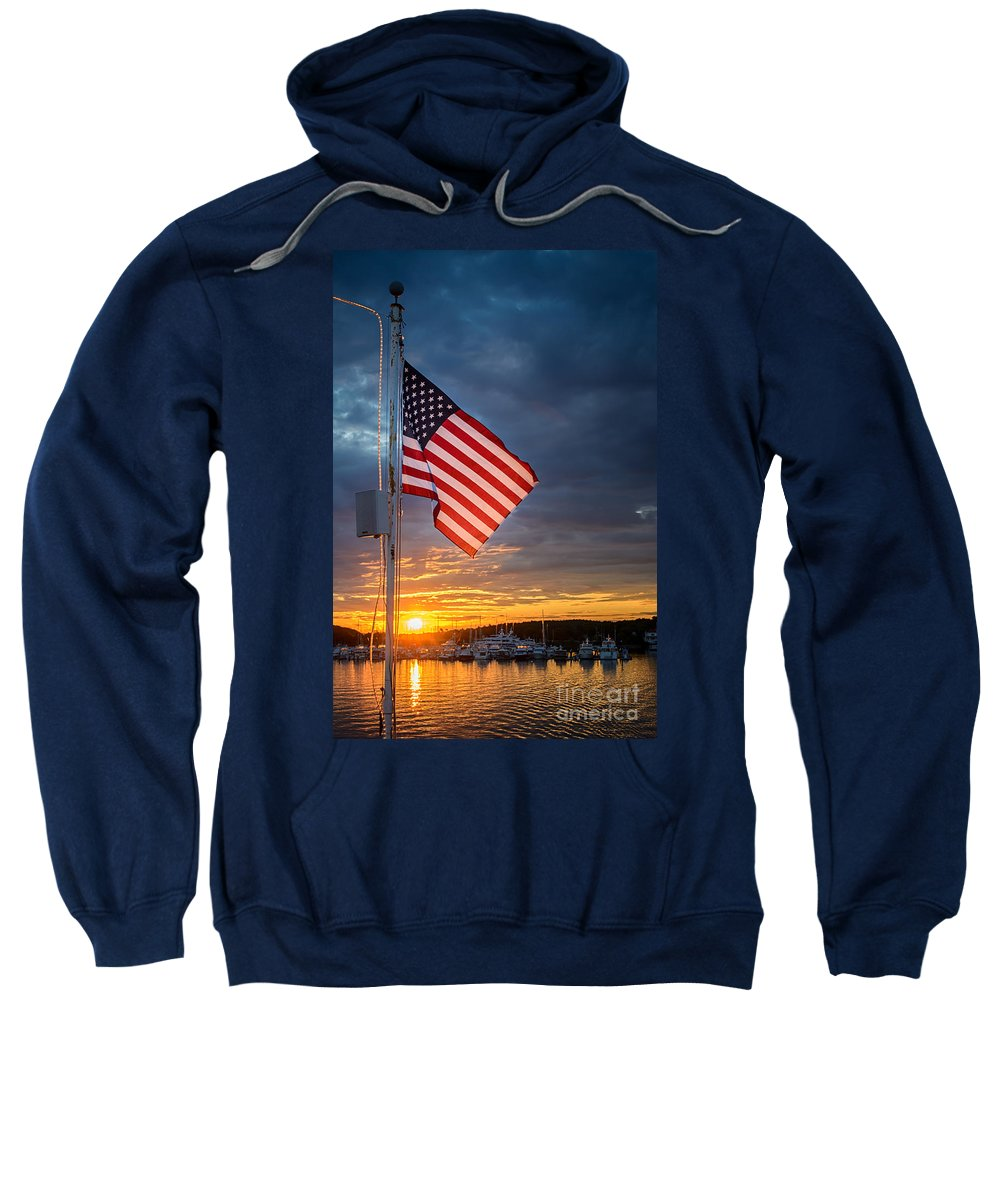 Old Glory Sweatshirt featuring the photograph Old Glory by Scott Thorp