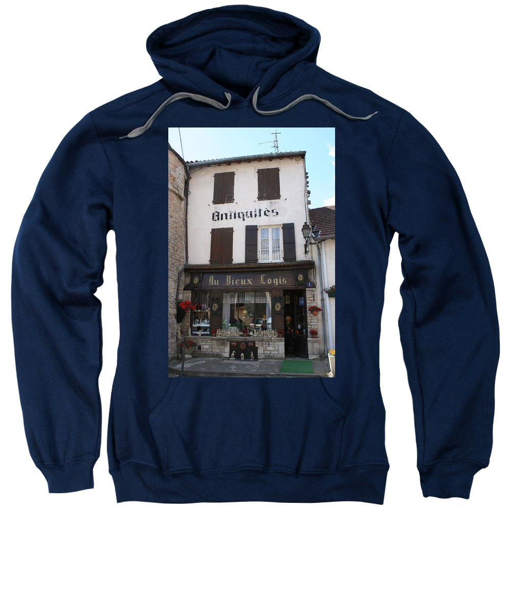 Shop Sweatshirt featuring the photograph Old Shop In Tournus by Christiane Schulze Art And Photography