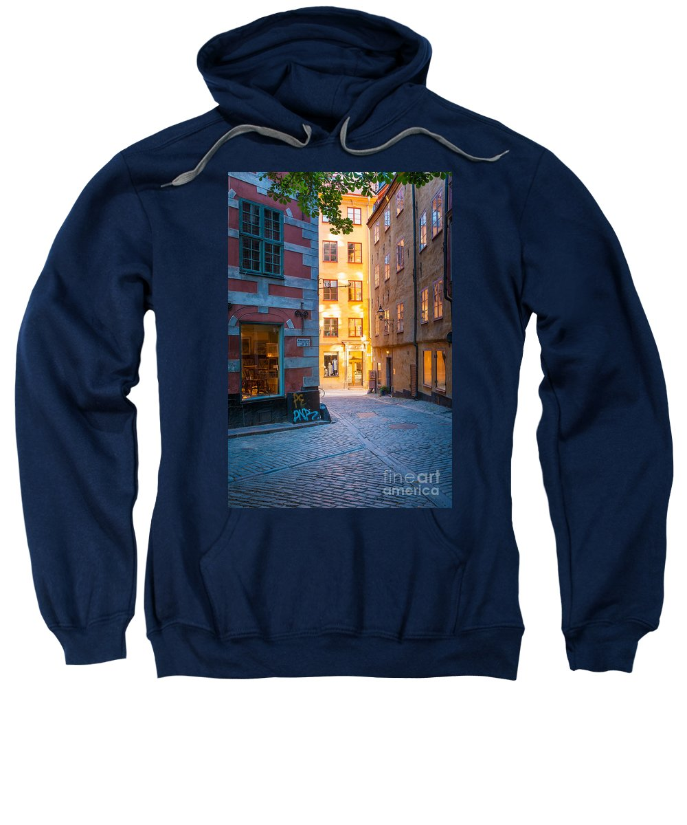 Europe Sweatshirt featuring the photograph Old Town Alley by Inge Johnsson