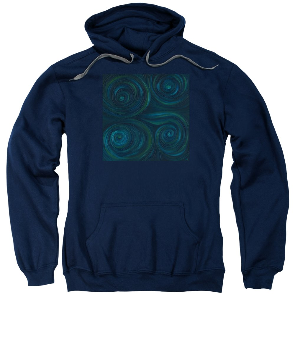 Abstract Sweatshirt featuring the painting Om by Laura Teti
