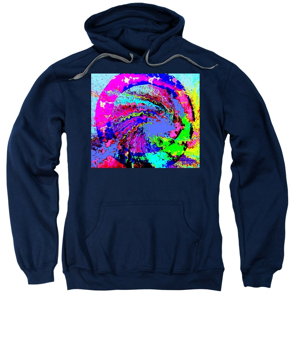 Digital Art Sweatshirt featuring the painting Out Of The Blue Wave Abstract by Saundra Myles