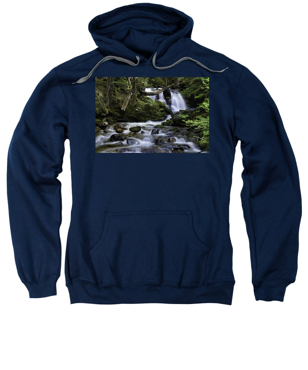 nordman Idaho Sweatshirt featuring the photograph Packer Falls And Creek by Paul DeRocker