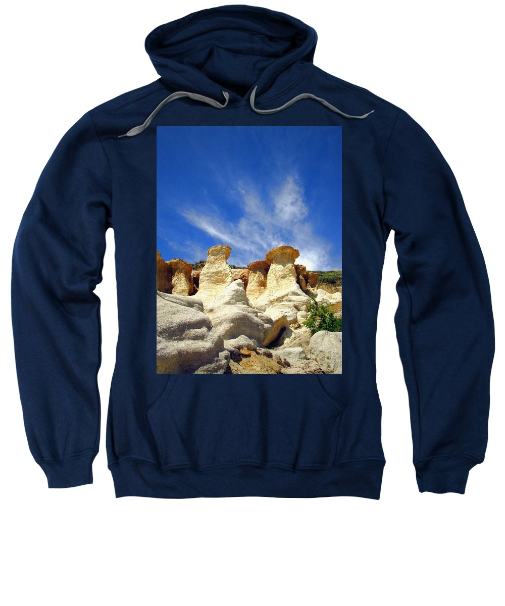 Rock-formations Sweatshirt featuring the photograph Paint Mines Beauty Three by Joyce Dickens