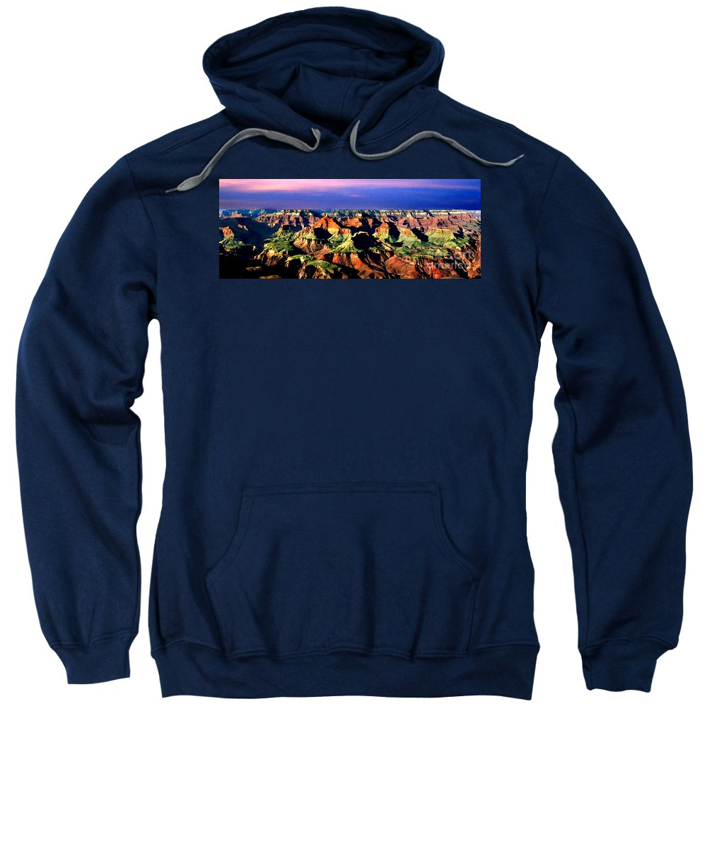 Grand Canyon Sweatshirt featuring the painting Painting The Grand Canyon National Park by Bob and Nadine Johnston