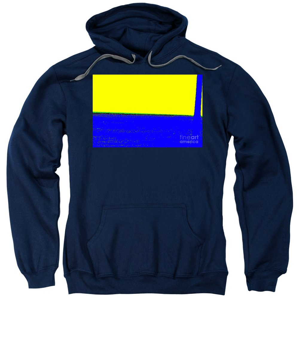 Paisaje Sweatshirt featuring the digital art Paisaje Blue Yellow by Eliso Ignacio Silva