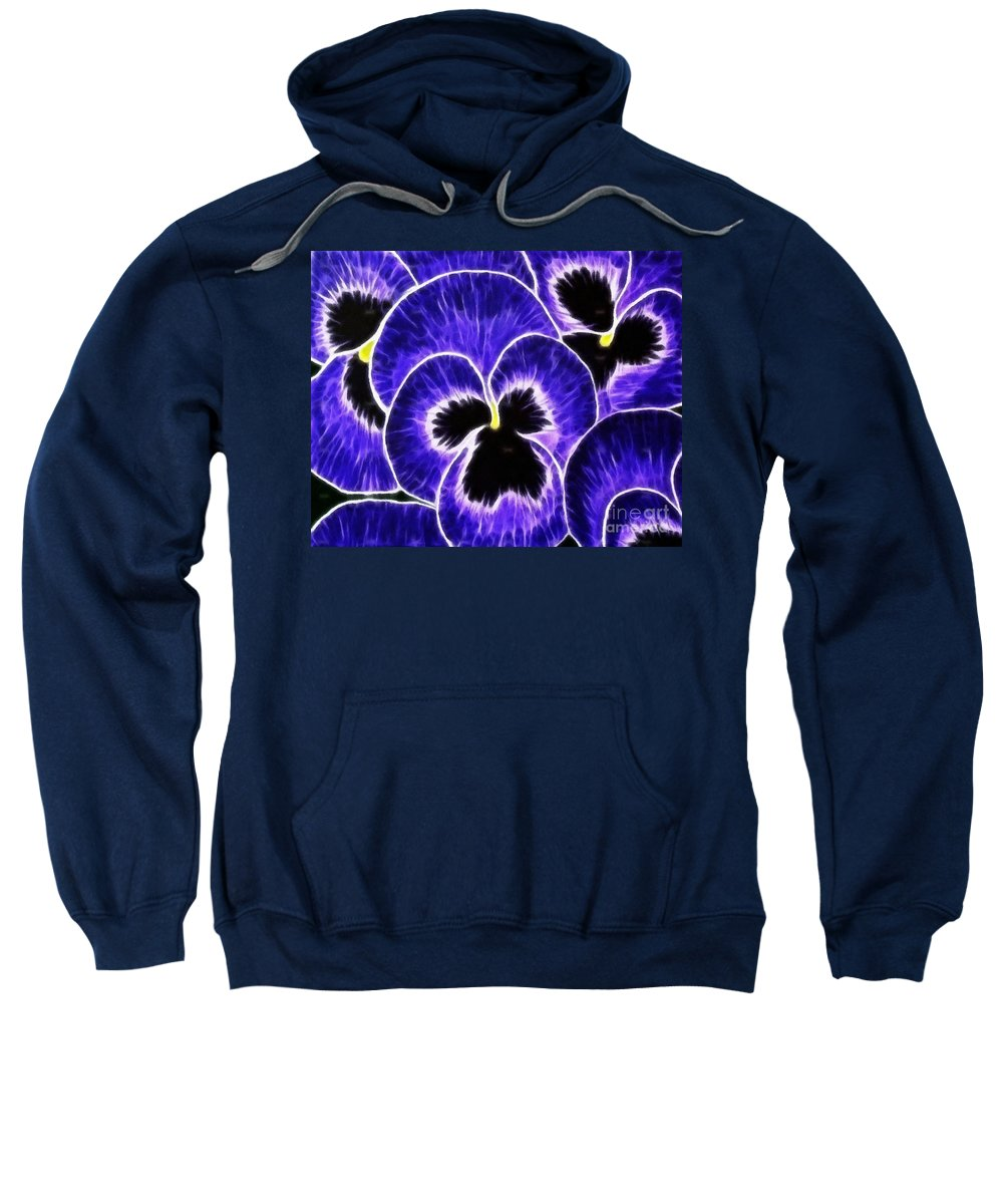 Pansy Expressive Brushstrokes Sweatshirt featuring the photograph Pansy Expressive Brushstrokes by Barbara Griffin