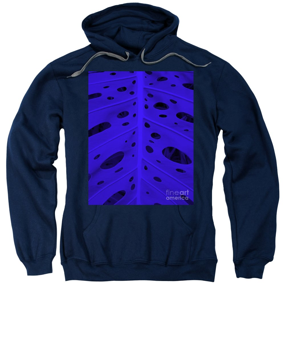 Leaf Sweatshirt featuring the photograph Peek-a-boo Leaf In Purple by Mary Deal